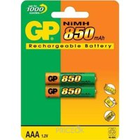 Фото GP Batteries AAA 850mAh NiMh 2шт (85AAAHC)