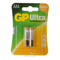 Фото GP Batteries AAA bat Alkaline 2шт Ultra (24AU)