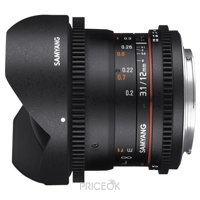 Фото Samyang 12mm T3.1 ED AS NCS VDSLR Fish-eye Sony E