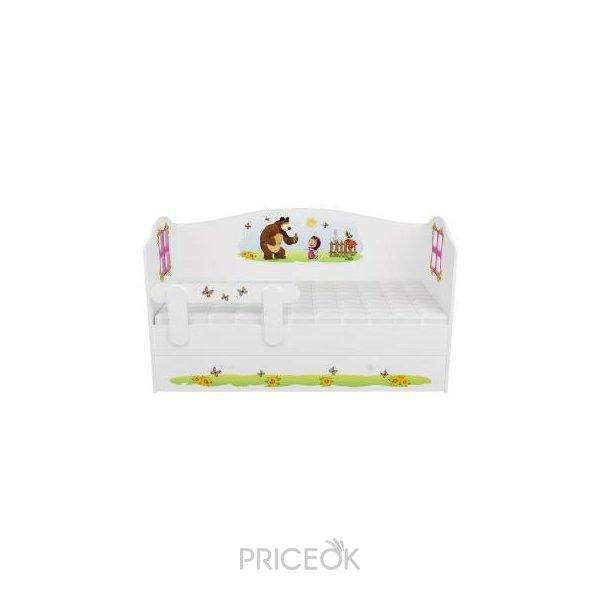 Кровать домик с заглушкой морской стиль mymilly
